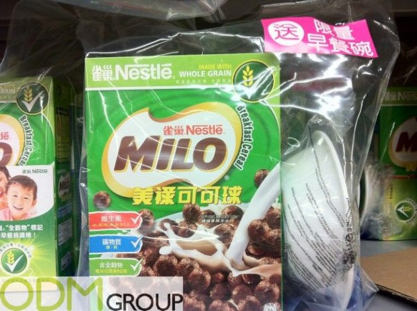 On pack promotion - Milo Cereal Bowl as gift with purchase