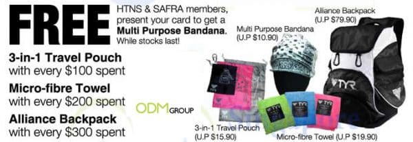 Travel Pouch, Towel and Bag - TYR Promotional Items