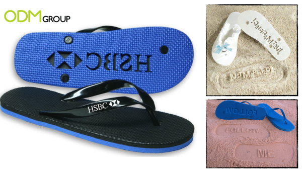 Promotional Flip Flop - Logo Stamping Beach Sandals