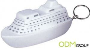 Custom Promos: Ship Stress Ball Keyring