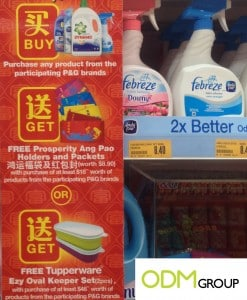 P&G Giveaways: Ang Bao holder, red packets and tupperware