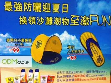 Beach Promo - Tent and Flip-Flops by Banana Boat