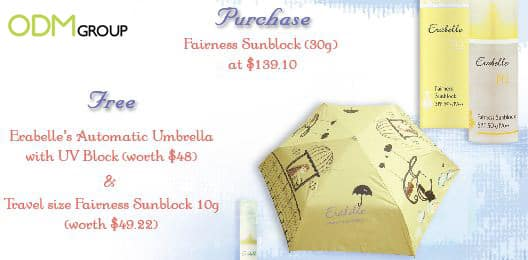 Sun Block Gift with Purchase
