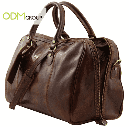 Corporate Gift Idea - Leather Duffel Bag for VIP