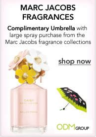 Marc Jacobs Fragrance Umbrella Gift with Purchase