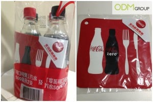 A unique and useful on pack promo by Coca-Cola Heat Proof Mat