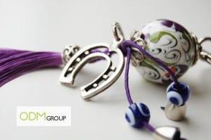 Promotional Ceramic Custom Keyring