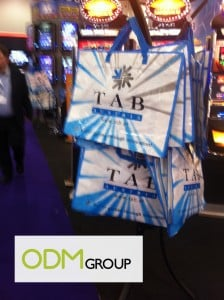 Giveaway at Ice Totally Gaming Trade Show by Tab – Promotional Bag