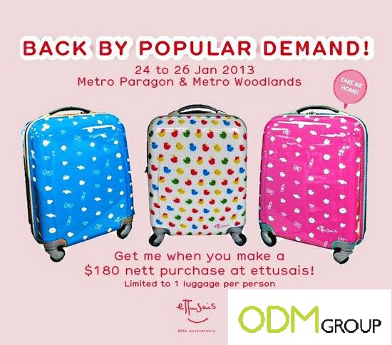 Marketing Gift by Ettusais-Luggage