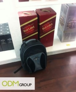 Gift with Purchase by Johnnie Walker Red Label – Black bag pack