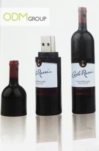 Marketing gift idea- Wine bottle shaped thumb drive