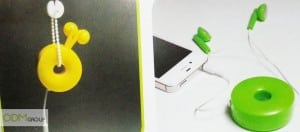 Doughnut retractable earphone - Giveaways