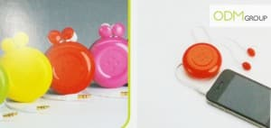 Button retractable earphone - Giveaways