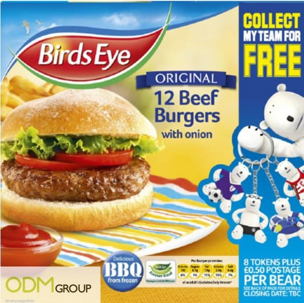 Collectibles as On Pack Promo by Frozen Food- Birds Eye