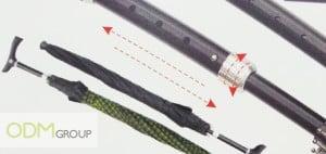 Dual function umbrella promo gift