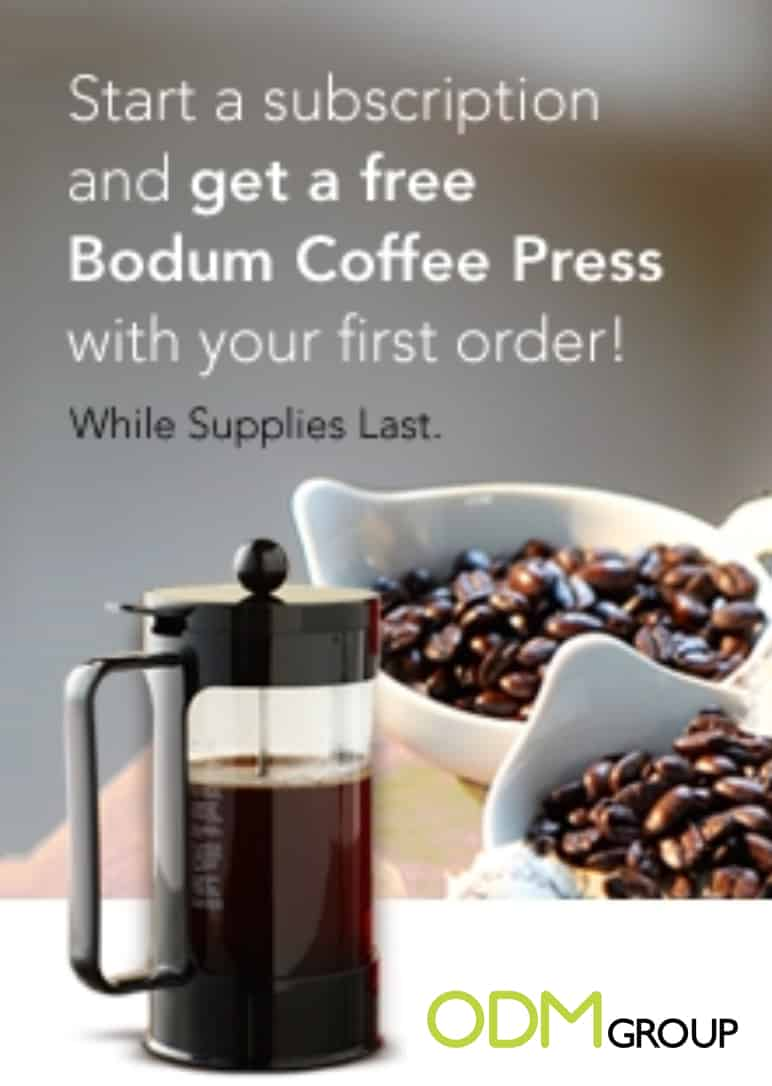 Branded Gift with Subscription to Boost Sales by Starbucks
