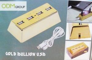 Gold bullion USB hub - Marketing gifts idea