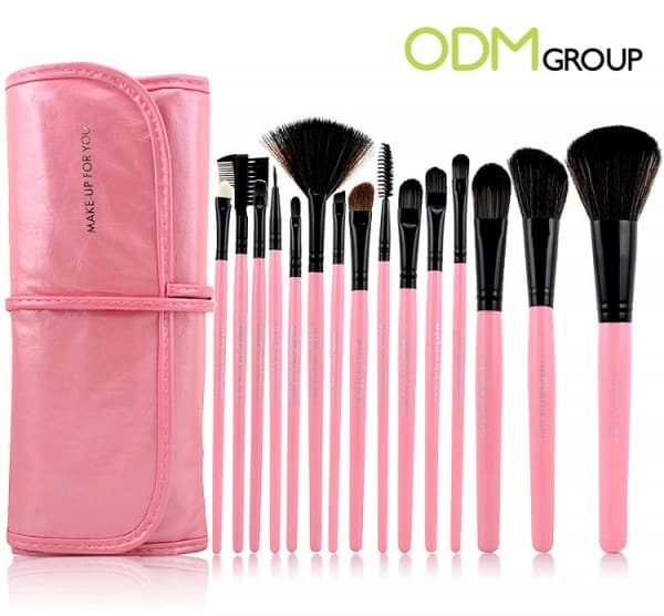 Foldable Make Up Brush Set Organiser