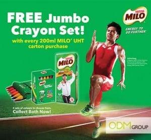 Nestle's children marketing - Milo Jumbo Crayon set