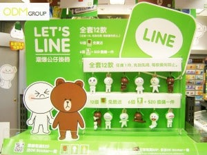 Line emoticon figurines - In-store promotion