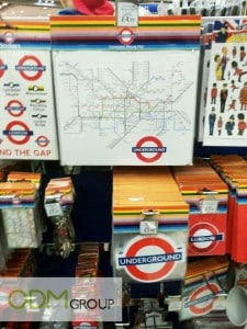 Branded promotional products - Underground's map and stickers
