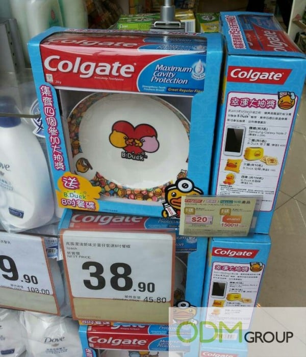 Custom Plates As In Store Marketing By Colgate!