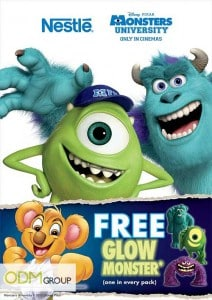 Nestle's Children Marketing Product - Glowing Monster Figurines