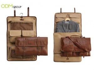 Customer Gift For Travelling: Leather Garment Bags