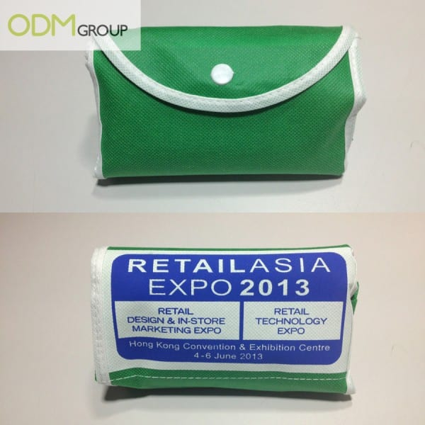 Front and Back View of Folded Bag