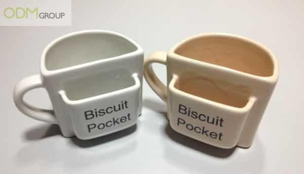 Customer Gift For Kitchen: Pocket Biscuit Mug