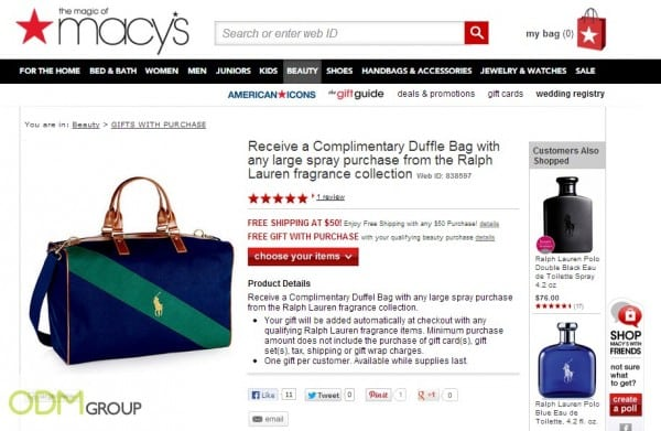 Ralph Lauren offers Custom Duffel Bag!