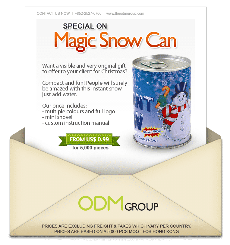 Christmas Goodies - Magic Snow Can