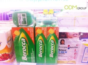 Berocca's in-store promotion at Watsons Singapore