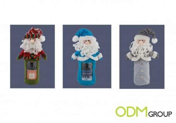 Customer Gift for Home: Santa Plush Bottle Cover