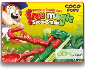 Kellogg's children marketing-Magic spoonstraw