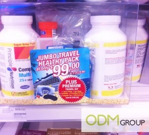 Principle Nutrition's In-store marketing - premium travel kits