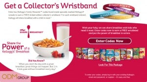 Kellogg's custom wristbands