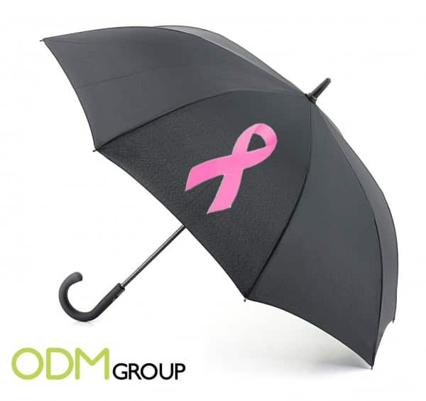 Umbrella to Promote Breast Cancer Awareness