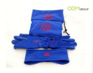 Promotional Gift - cashmere feel fleece scarf set