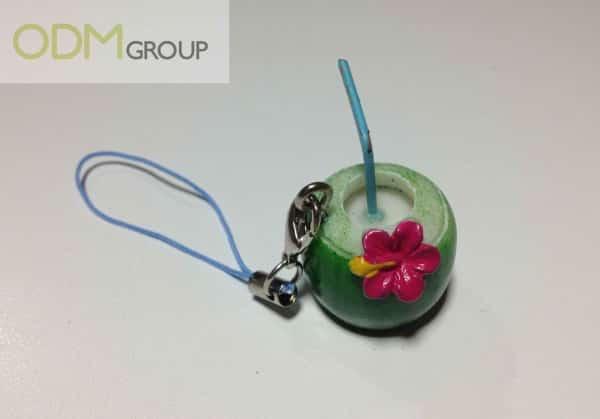 CocoMax's Coconut Shaped Custom Keychain