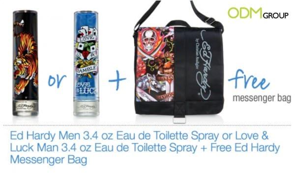 Ed Hardy's Funky Custom Messenger Bag as GWP!