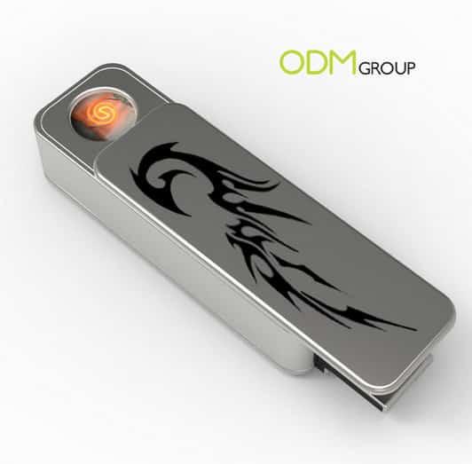 battery powered metal USB lighter