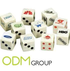 branded dice