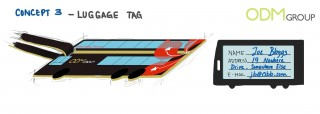 Bus Advertising - Luggage Tag Custom promos