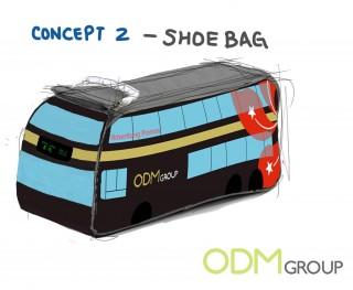 Bus Advertising - Shoe bag Custom Promos