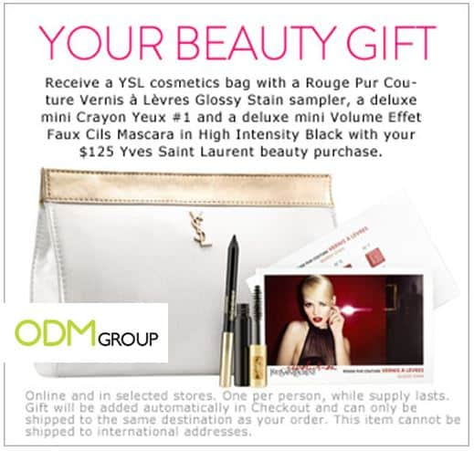 Gift with Purchase: Yves Saint Laurent's cosmetics bag