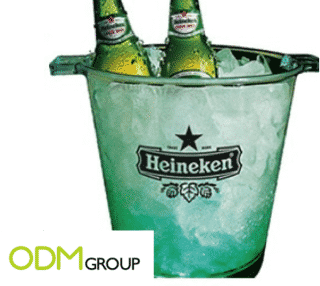 Stay fresh with your customers with this customized ice bucket