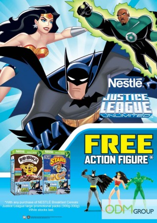 Nestlé's Children Marketing! – Justice League Action Figures