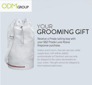 Complimentary Gift: Prada Sailing Bag