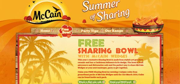Promotional Bowls - McCain